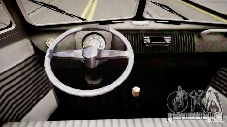 Volkswagen Kombi Tipo 2 Rod Cabine Simples для GTA 4 вид изнутри