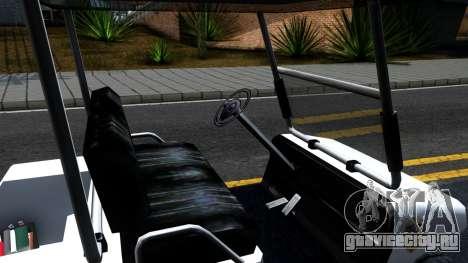 Caddy Metropolitan Police 1992 для GTA San Andreas вид изнутри