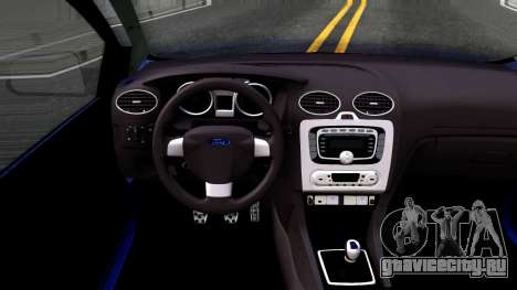 Ford Focus Sedan 2009 IVF для GTA San Andreas вид изнутри