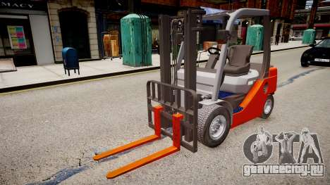 Toyota Forklift (v2.0) для GTA 4 вид справа