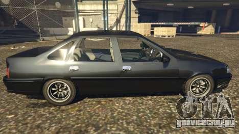 Opel Vectra A для GTA 5 вид слева