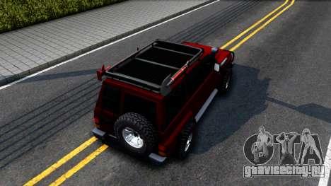 Nissan Patrol Y60 Off-road для GTA San Andreas вид сзади