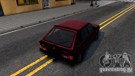 ВАЗ-21096 для GTA San Andreas вид сзади