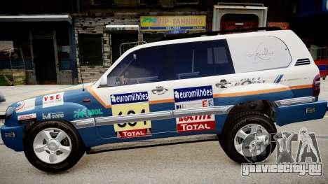 Toyota Land Cruiser GINAF Dakar Service Car для GTA 4 вид слева