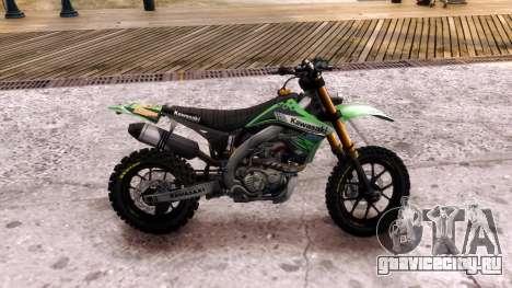 Kawasaki KX450F для GTA 4 вид слева
