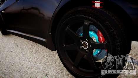 Mitsubishi Lancer Evolution X v1.0 для GTA 4 вид сзади