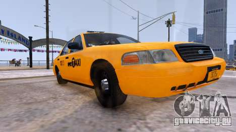 Taxi Nyc для GTA 4 вид справа