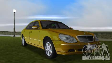 Mercedes-Benz S600 W220 для GTA Vice City вид изнутри