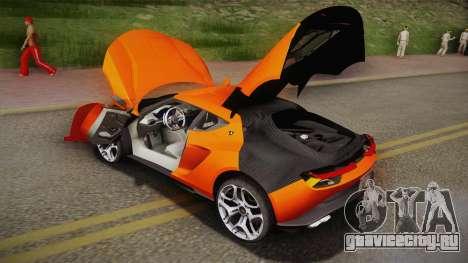 Lamborghini Asterion LPI 910-4 Concept 2016 для GTA San Andreas