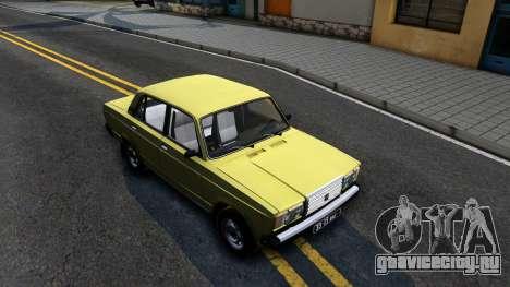 Ваз 2107 СССР для GTA San Andreas вид справа
