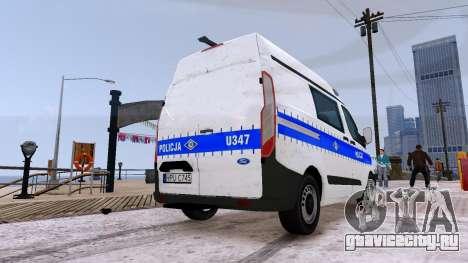 Ford Transit Polish Police 2015 для GTA 4 вид сзади слева