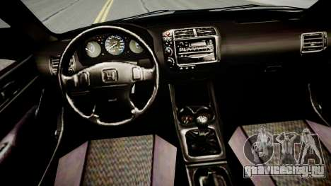 Honda Civic 1996 для GTA 4 вид изнутри