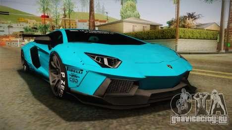 Lamborghini Aventador LP700-4 Liberty Walk LB для GTA San Andreas
