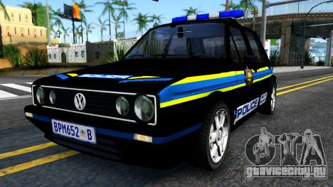 Volkswagen Golf Black South African Police для GTA San Andreas