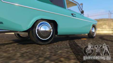 Ford Anglia 1959 from Harry Potter для GTA 5 вид сзади справа