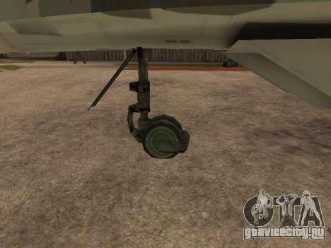 MIG-29 Armenian для GTA San Andreas вид справа