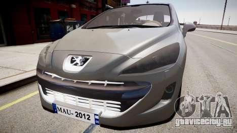 Peugeot 308 GTi 2011 для GTA 4 вид справа