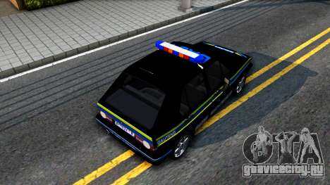 Volkswagen Golf Black South African Police для GTA San Andreas вид сзади