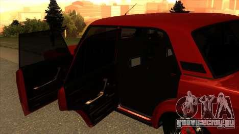 ВАЗ-2107 для GTA San Andreas вид сзади