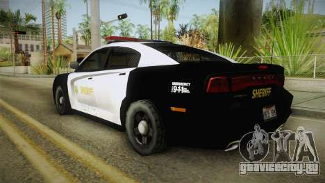 Dodge Charger Sheriff для GTA San Andreas вид слева