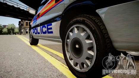 Metropolitan Police 2002 IRV для GTA 4 вид сзади