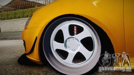 Volkswagen Golf 5 Stance для GTA San Andreas вид сзади слева