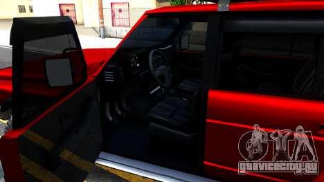 Nissan Patrol Y60 Off-road для GTA San Andreas вид изнутри