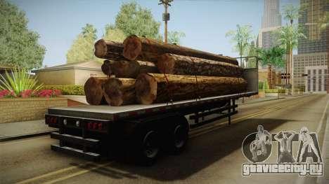 GTA 5 Log Trailer v1 для GTA San Andreas вид сзади слева