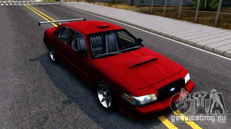 Ford Crown Victoria для GTA San Andreas вид изнутри