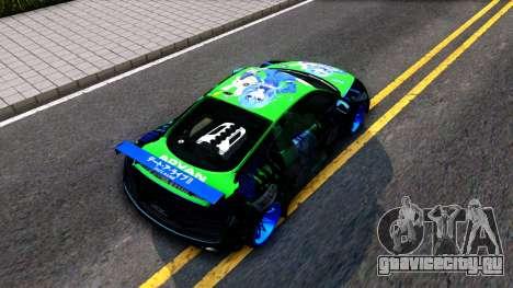 Audi R8 V.1.0 Itasha Yoshino Hermit DAL LWP для GTA San Andreas