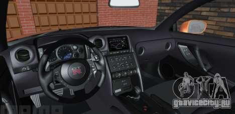 Nissan GT-R 35 Рестайлинг для GTA San Andreas вид справа