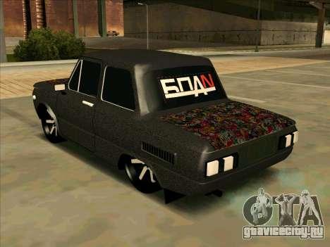 ЗАЗ 968М Мега Колхоз для GTA San Andreas вид слева
