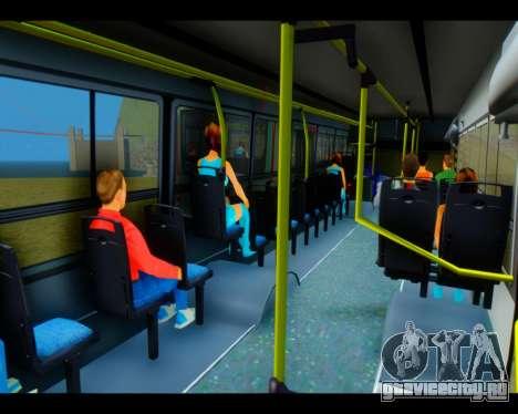 Italbus Bello 2016 115 ETCE для GTA San Andreas вид изнутри
