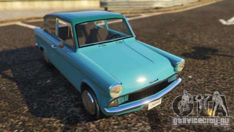 Ford Anglia 1959 from Harry Potter для GTA 5 вид сзади