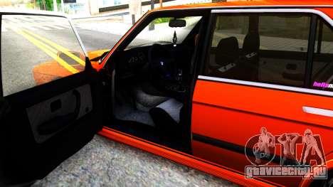 BMW E28 M5 для GTA San Andreas вид изнутри