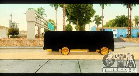 ПАЗ 4234 Elite Gold для GTA San Andreas вид сзади
