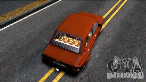 Zastava 1100p для GTA San Andreas вид сзади