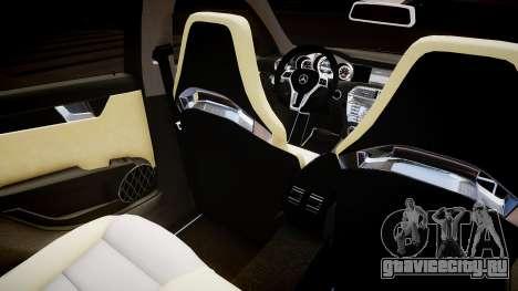Mercedes-Benz C63 AMG для GTA 4 вид изнутри