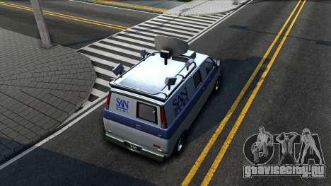 GTA V Declasse Burrito News для GTA San Andreas вид сзади