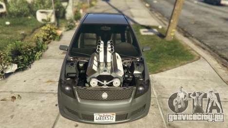 Asea V8 Mod для GTA 5 вид сзади справа