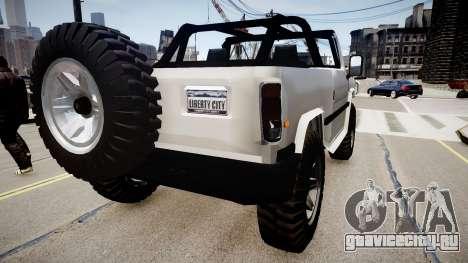 Patriot Jeep для GTA 4 вид сзади слева