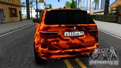BMW X5M E70 для GTA San Andreas вид сзади слева