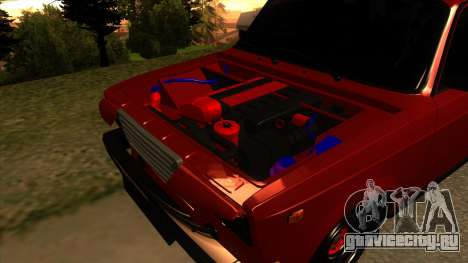 ВАЗ-2107 для GTA San Andreas вид изнутри