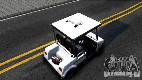 Caddy Metropolitan Police 1992 для GTA San Andreas вид сзади