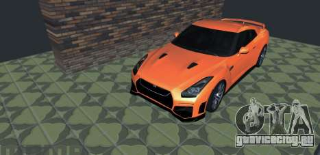 Nissan GT-R 35 Рестайлинг для GTA San Andreas вид сзади слева