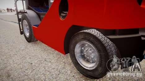 Toyota Forklift (v2.0) для GTA 4 вид сзади