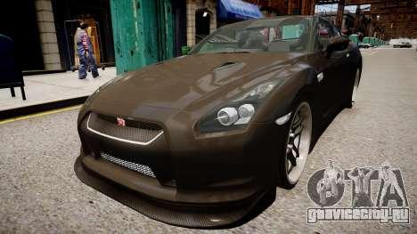 Nissan R35 GT-R для GTA 4 вид справа