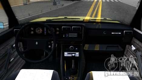 Ваз 2107 СССР для GTA San Andreas вид сзади