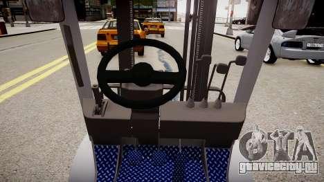 Toyota Forklift (v2.0) для GTA 4 вид изнутри