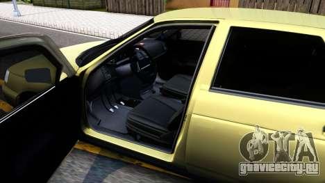 ВАЗ 2112 для GTA San Andreas вид изнутри
